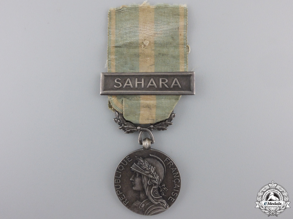 A French Colonial Medal for Sahara Service