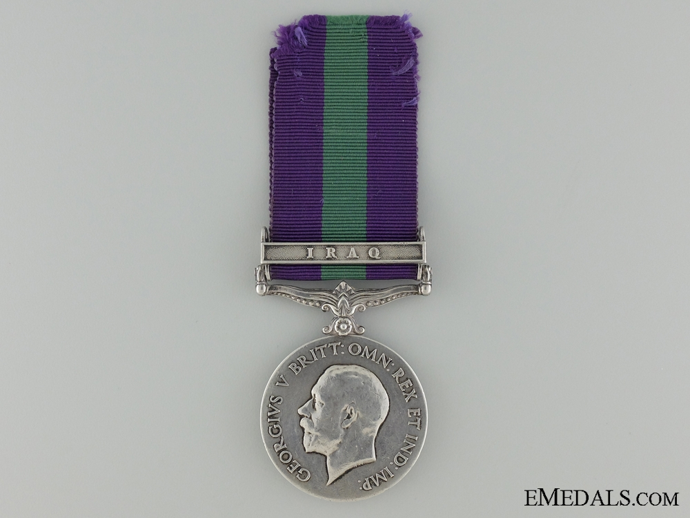 A General Service Medal for Iraq to the 32nd Pioneers