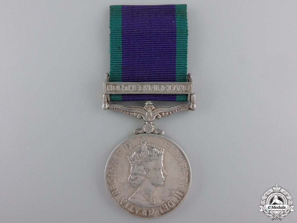 A General Service Medal 1962-2007 to the Royal Regiment of Fusiliers