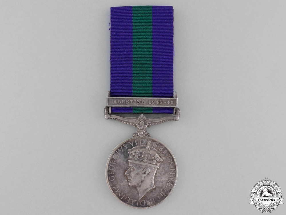 A General Service Medal 1918-1962 for Palestine