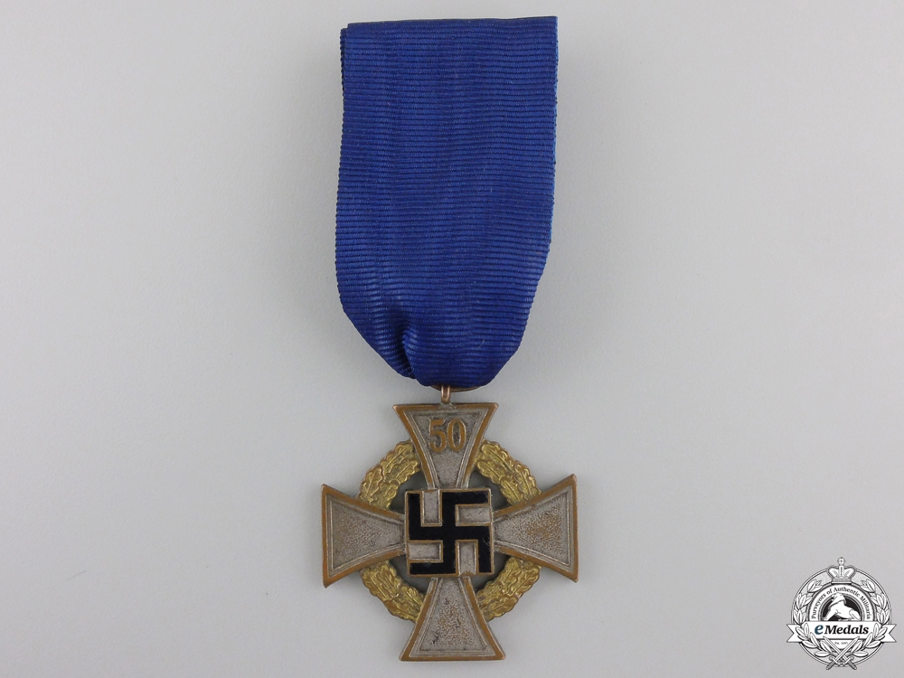 A German Faithful Service Decoration; Special Class for 50 Years' Service