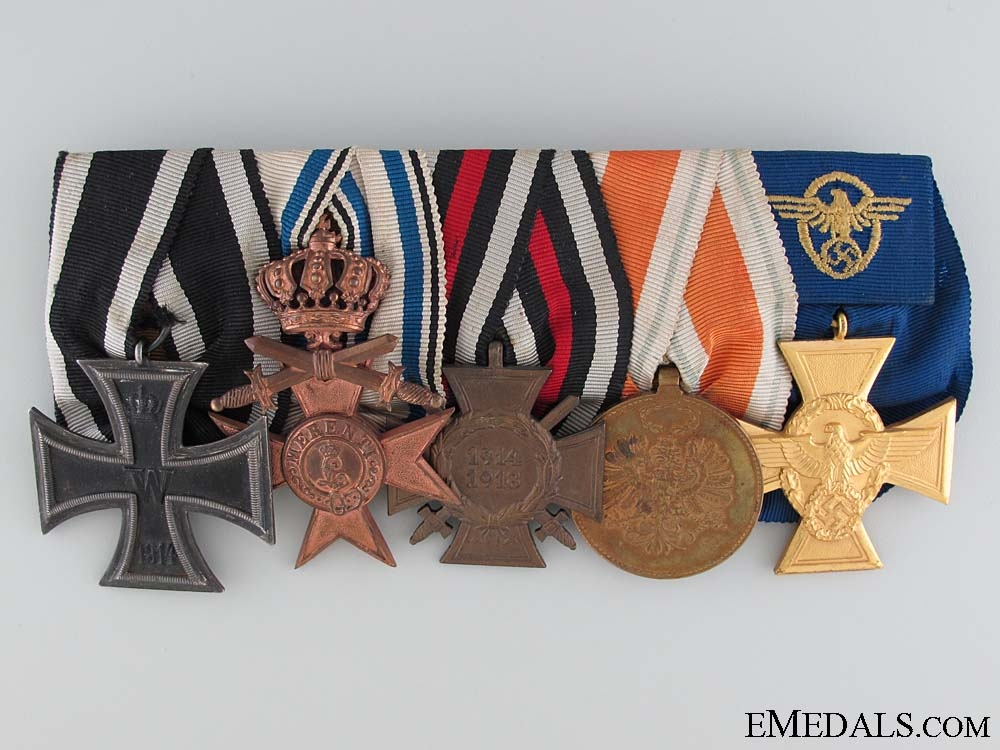 A German Imperial Group of Five Awards