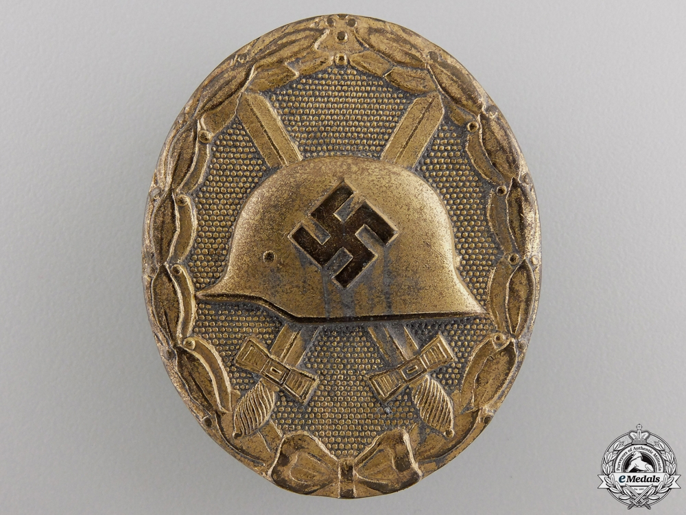A Gold Grade Wound Badge by B.H. Mayer's