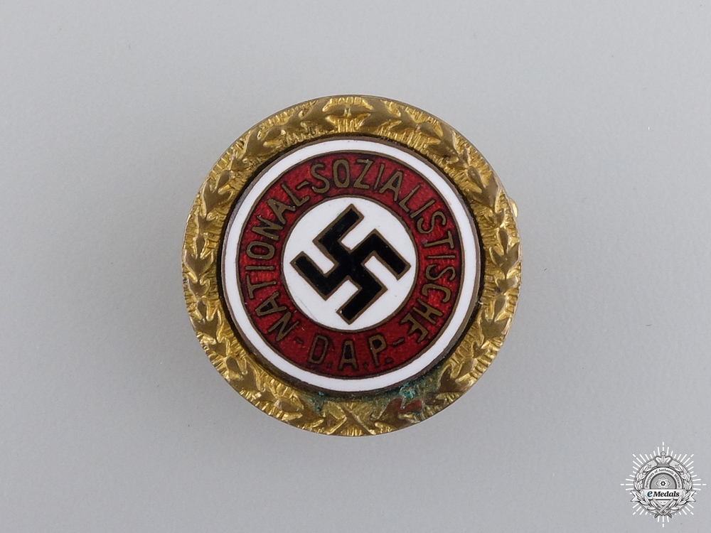 A Golden Party Badge Issued to Max Held 1934