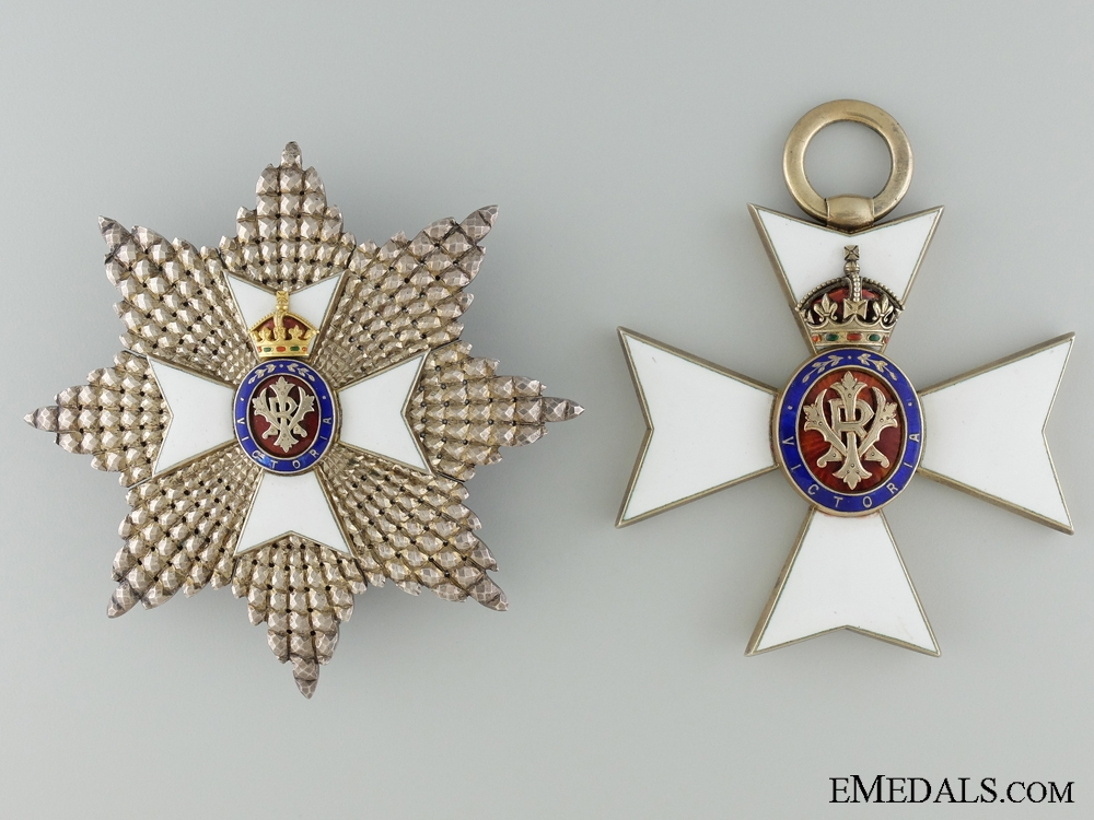 A Grand Cross Set of the Royal Victorian Order GCVO; Numbered 404