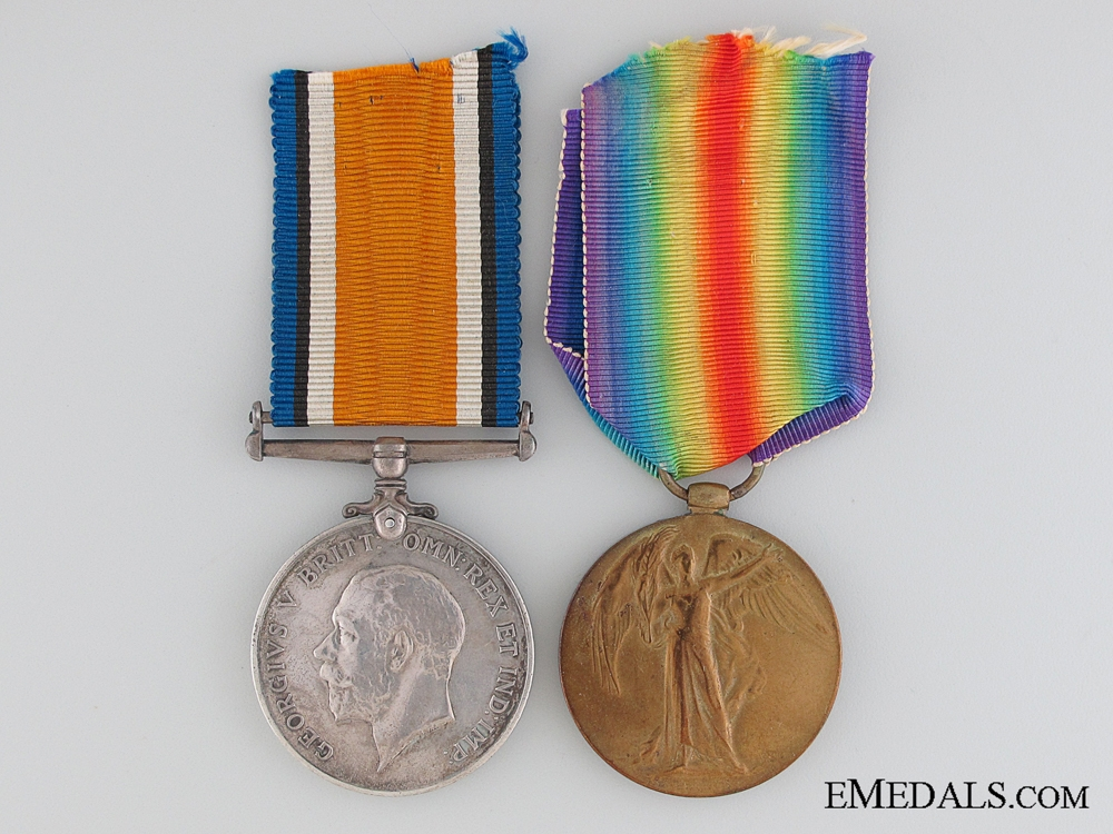 A Great War Pair to the Canadian Army Service Corps