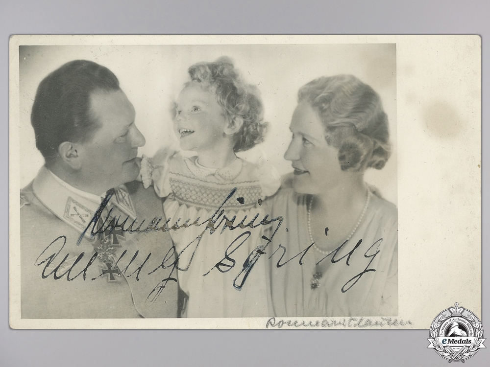 A Herman & Emmy Göring Signed Picture Post Card