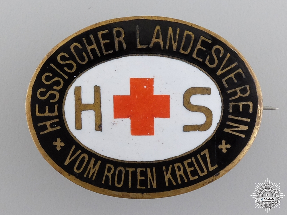 A Hessen Red Cross Organization Badge by A.Stubbe