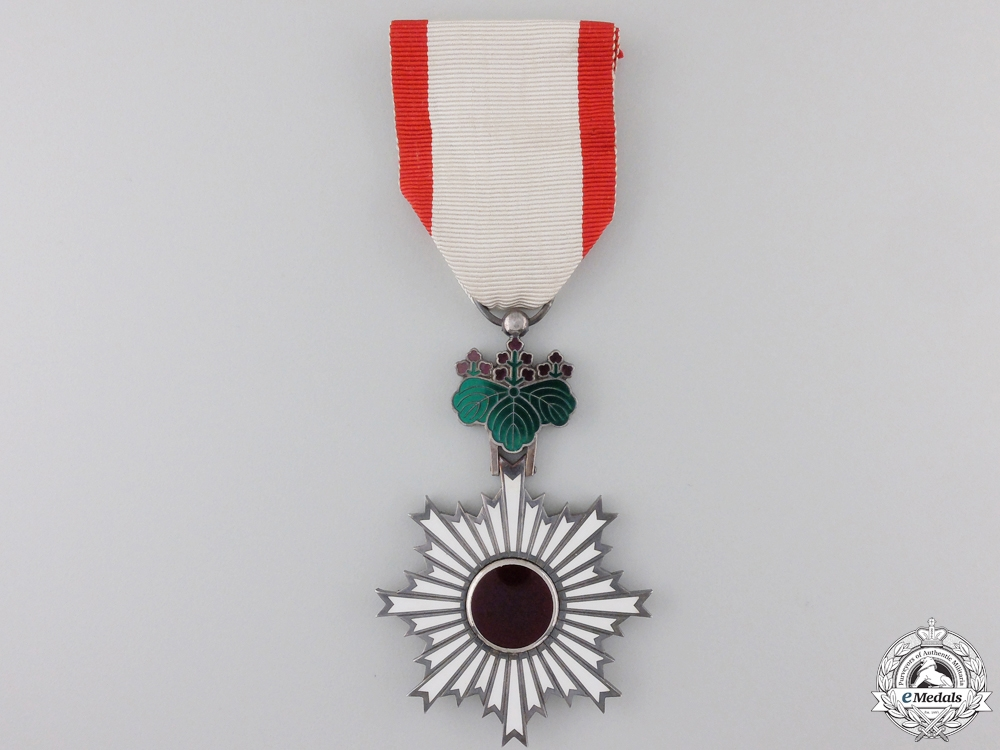 A Japanese Order of the Rising Sun; Sixth Class