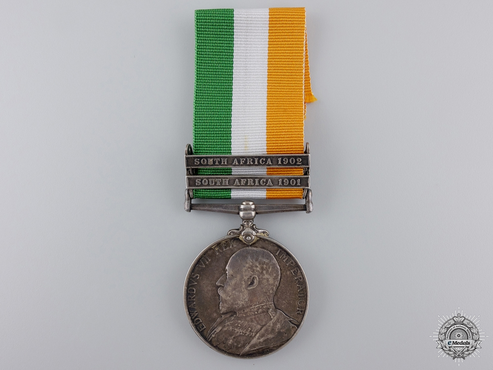 A King's South Africa Medal to the 9th Lancers