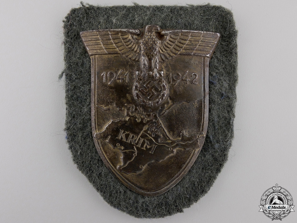 A Krim Campaign Shield; Army Issue