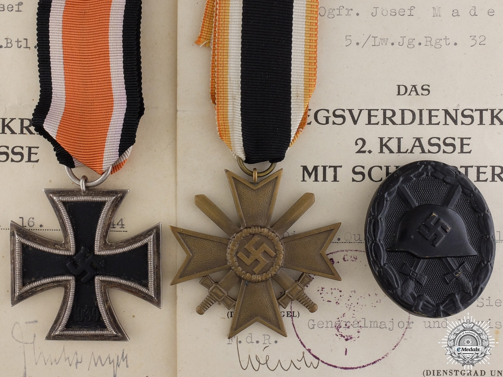 A Medal & Award Document Group to the  Reserve Panzer Regt.