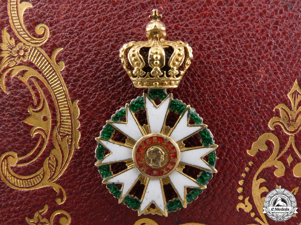A Miniature Civil Merit Order of the Bavarian Crown in Gold