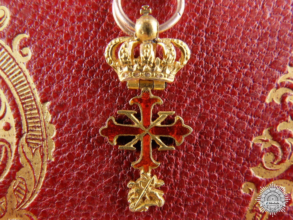 A Miniature Order of Constantine of St.George in Gold; Duchy of Parma