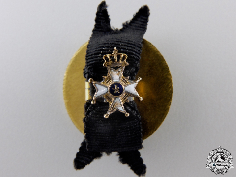 A Miniature Swedish Order of the Sword in Gold