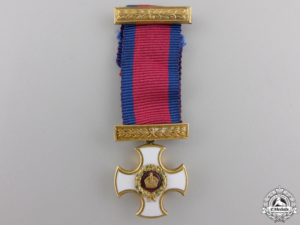 A Miniature Victorian Distinguished Service Order in Gold