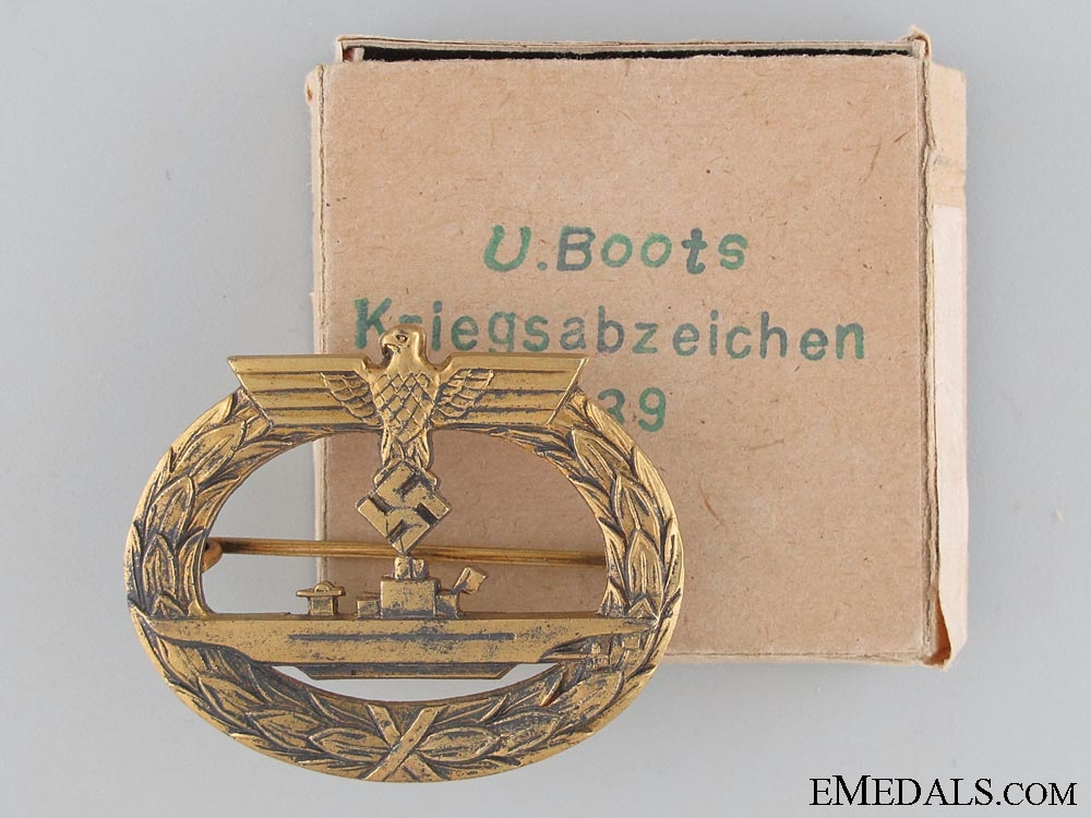 A Mint Submarine Badge by Friedrich Orth