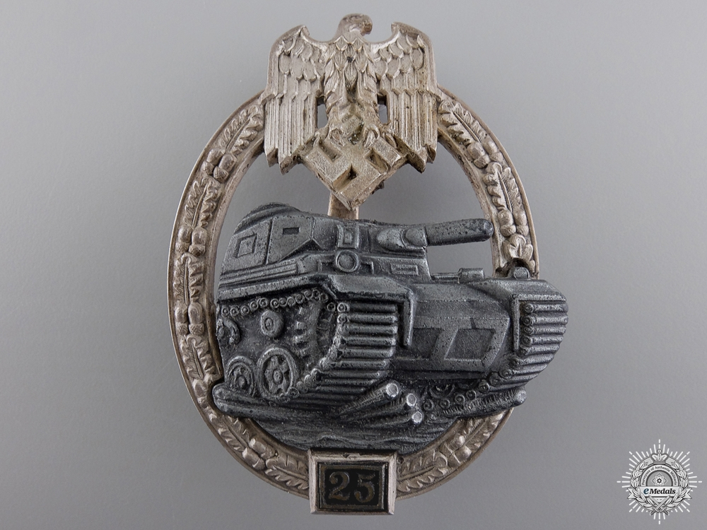 A Mint Tank Assault Badge; Special Grade 25