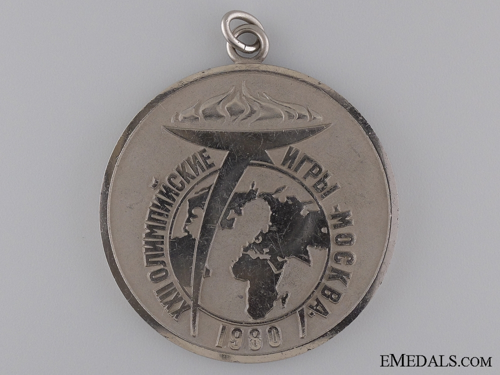 A Moscow Olympic Games 1980 Winner's Medal
