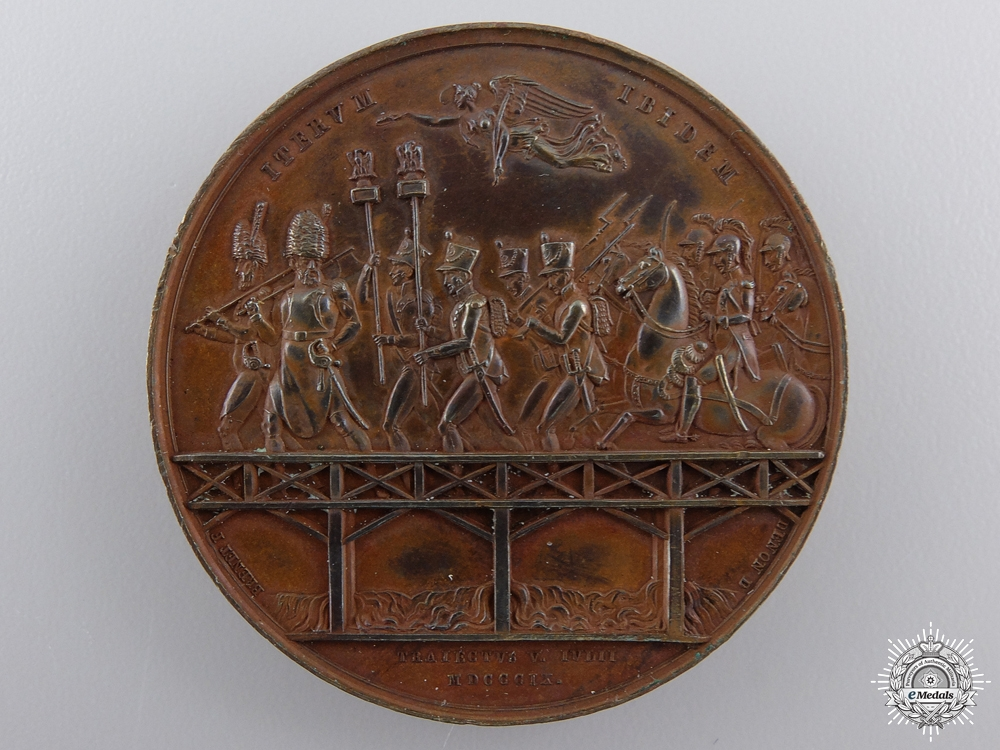 A Napoleon's River Crossing & Battle of Essling Medal