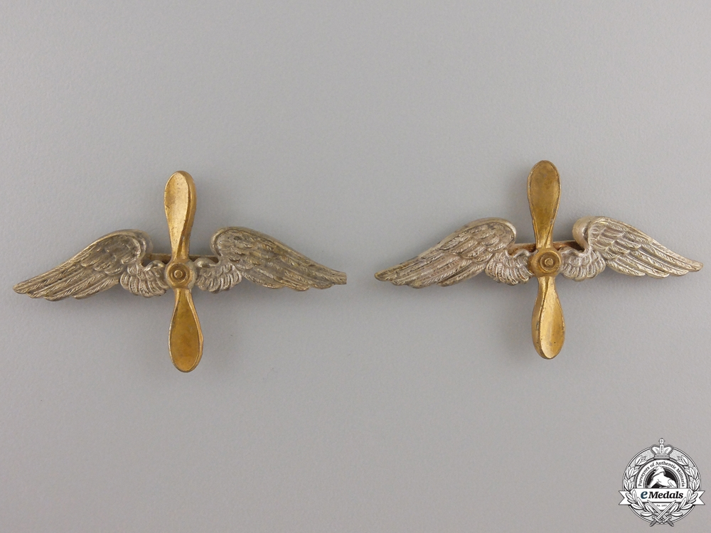 A Pair of Shoulder Board Insignia for Fliegertruppe
