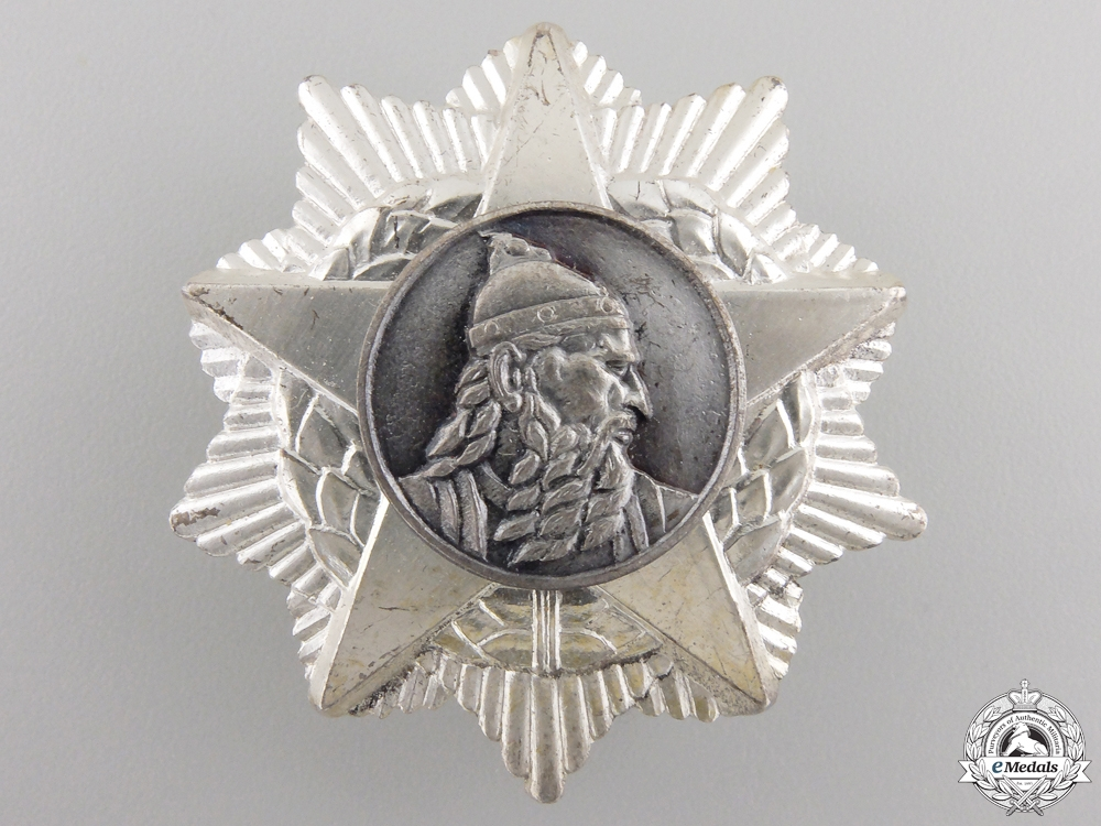 A People's Republic of Albania Order of Scanderbeg; 3rd Class