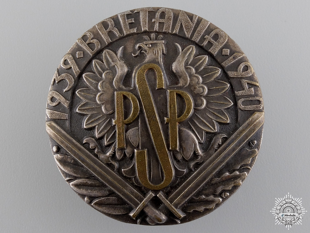 A French Made Polish Air Force Infantry Officers Badge