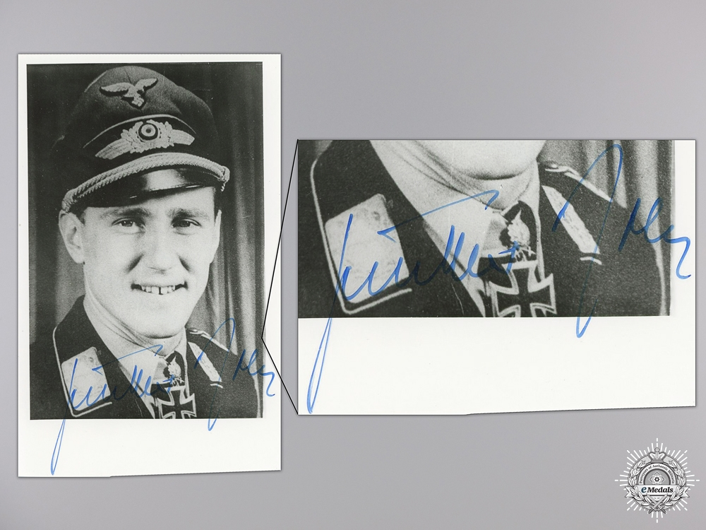 A Post War Signed Photograph of Knight's Cross Recipient; Rall