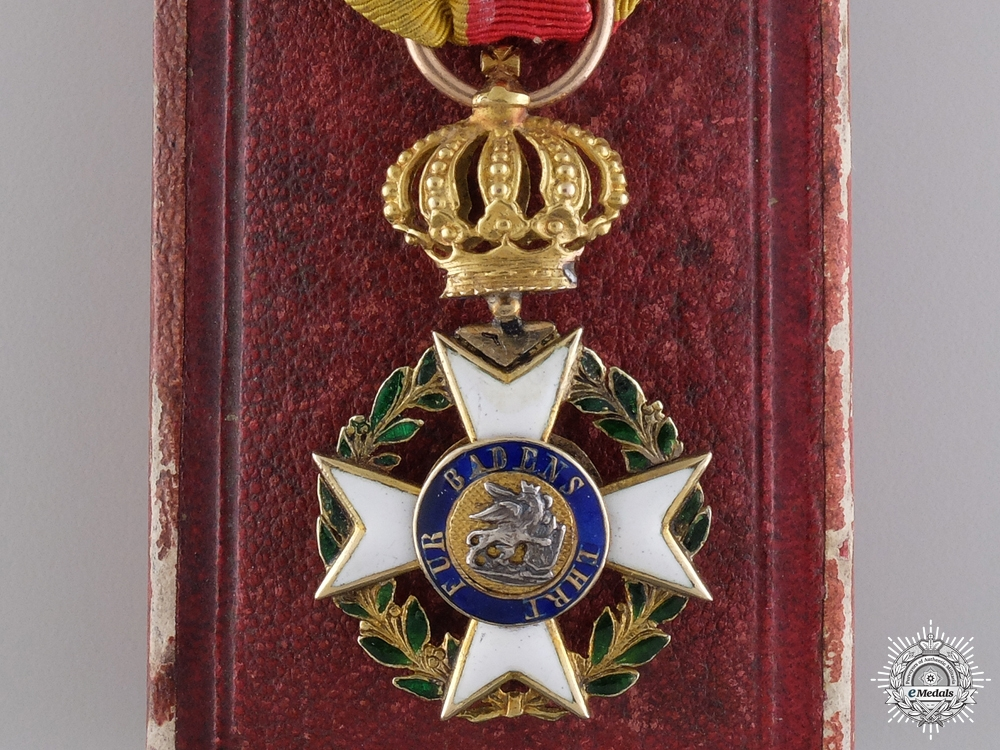 A Rare Military Karl Friedrich Merit Order; Knight's Badge in Gold