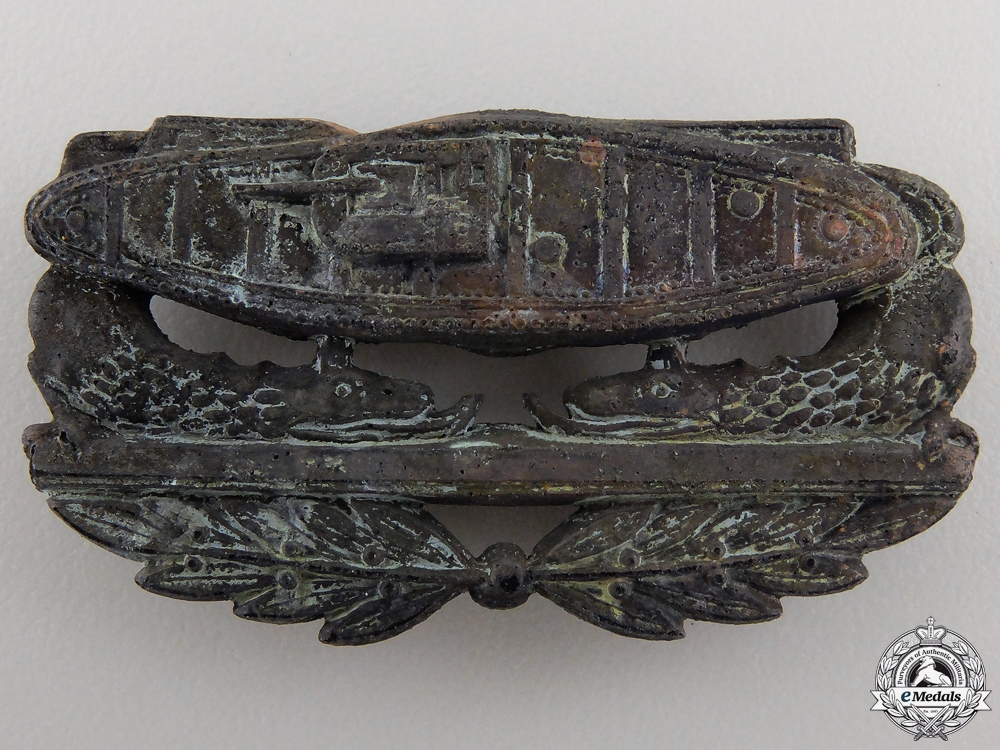 A Recovered First War American Tank Corps Collar Badge