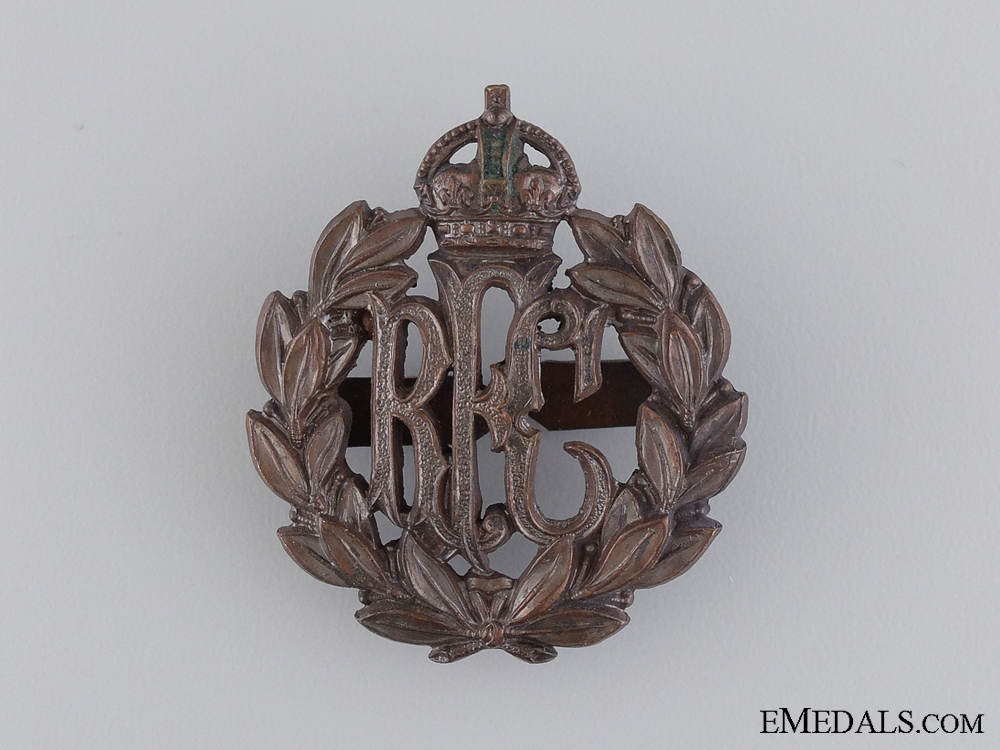 A Royal Flying Corps (RFC) Cap Badge by J. R. Gaunt & Son