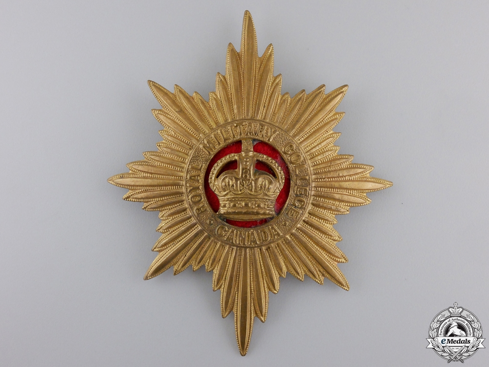 A Royal Military College of Canada Helmet Plate
