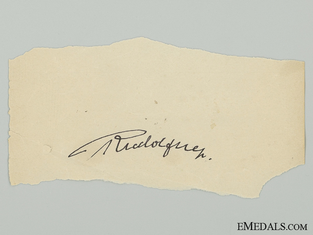 A Rudolf Hess Signature Removed from SS Day Book