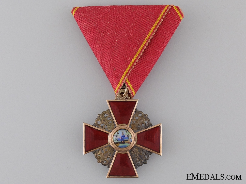 A Russian Order of St. Anne in Gold; Third Class
