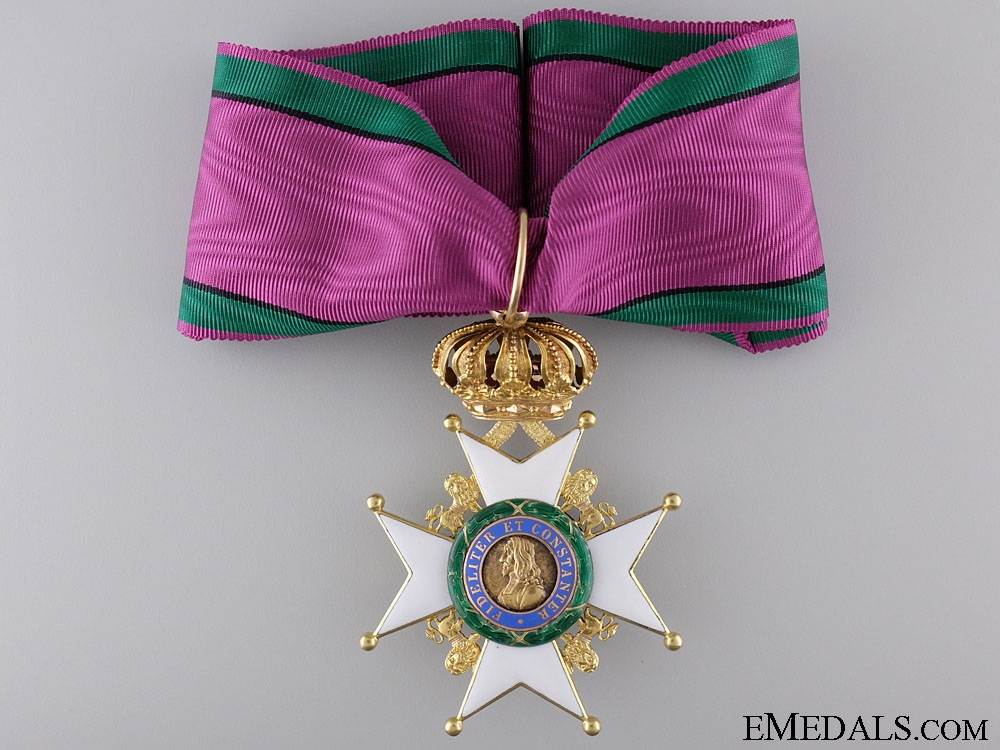 A Saxe-Ernestine House Order in Gold; Commander's Cross