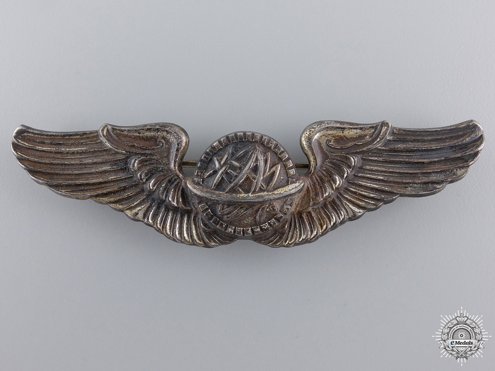 A Second War American Army Air Force Navigator Badge by NS Meyer