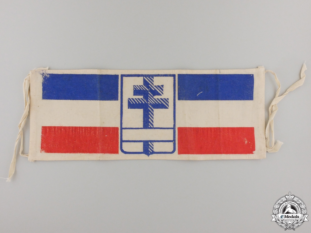 A Second War Free French Resistance Armband