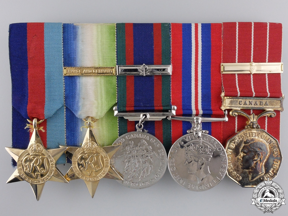A Second War Royal Canadian Navy Group to Petty Officer 1st Class