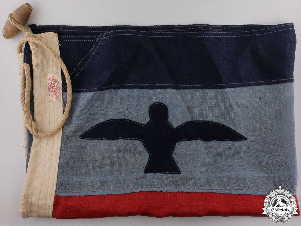 A Second War Royal Canadian Air Force Squadron Leader's Field Flag