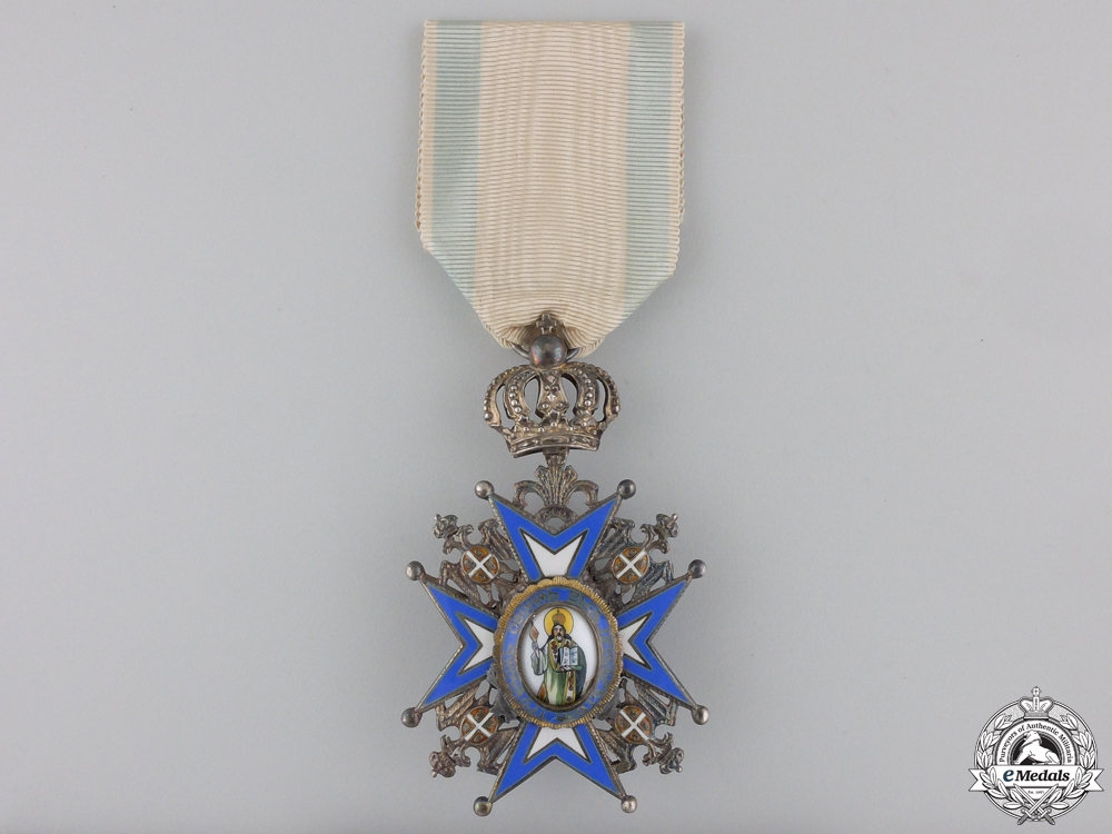A Serbian Order of St. Sava; 5th Class by Huguenin