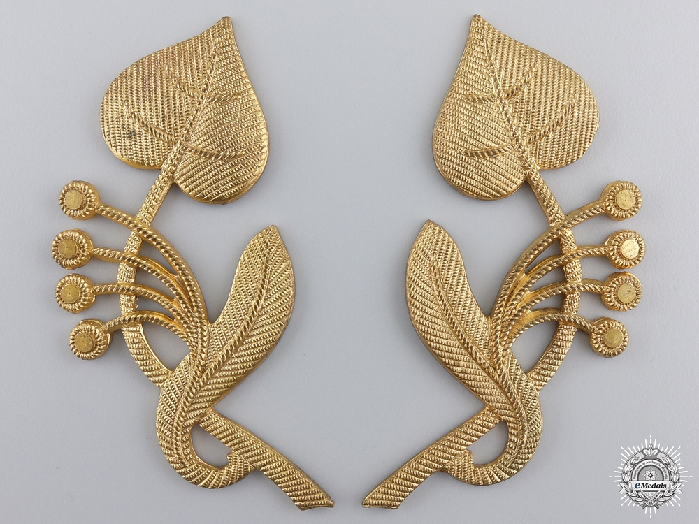 A Set of Czechoslovakian Army General's Collar Insignia