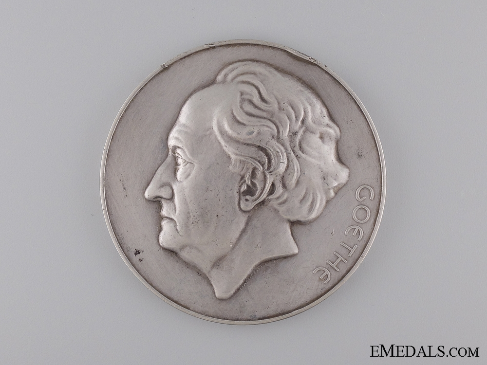 A Silver Goethe Award Medal to Robert Holtzmann; Second Model
