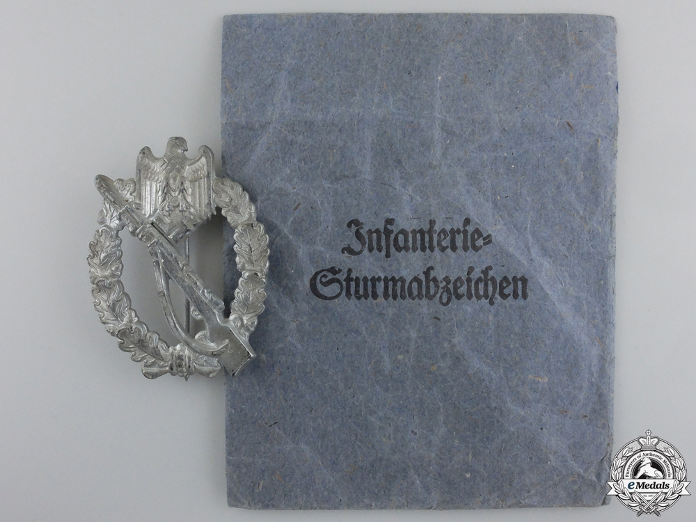 A Silver Grade Infantry Badge with Packet of Issue