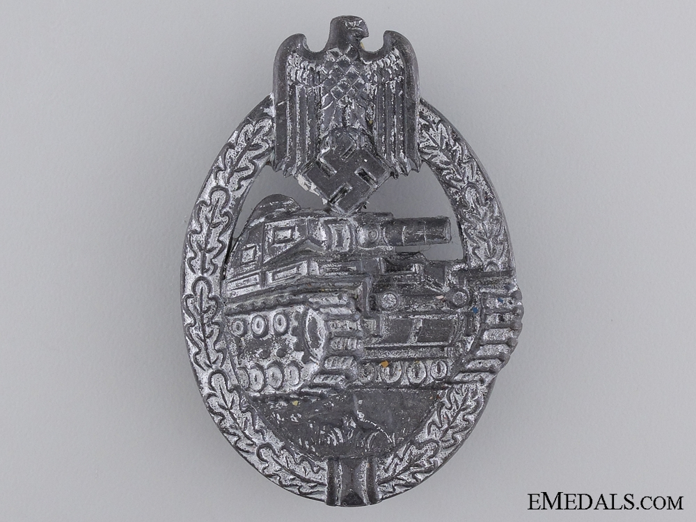 A Silver Grade Tank Badge; Marked R.R.S