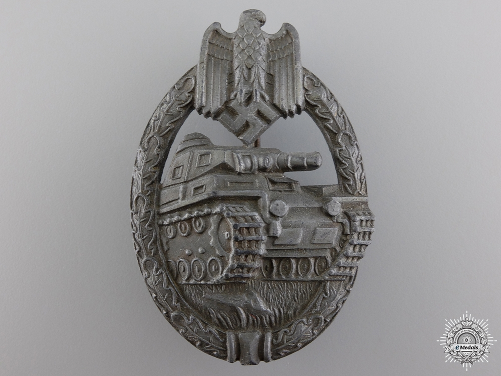 A Silver Grade Tank Badge by Karl Wurster
