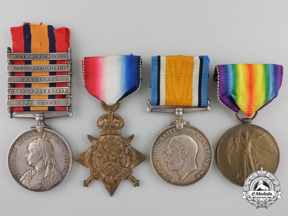 A South Africa & First World War Group to Captain C.E.G. Leveson-Gower