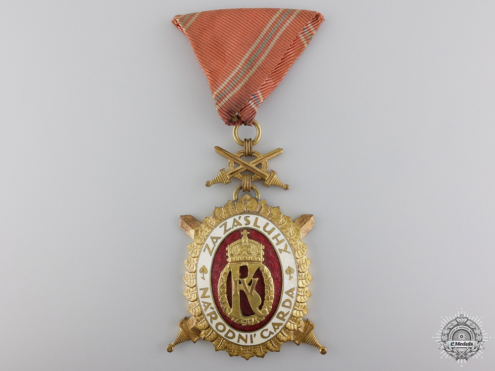 A Czechoslovakian Order of Charles IV with Swords