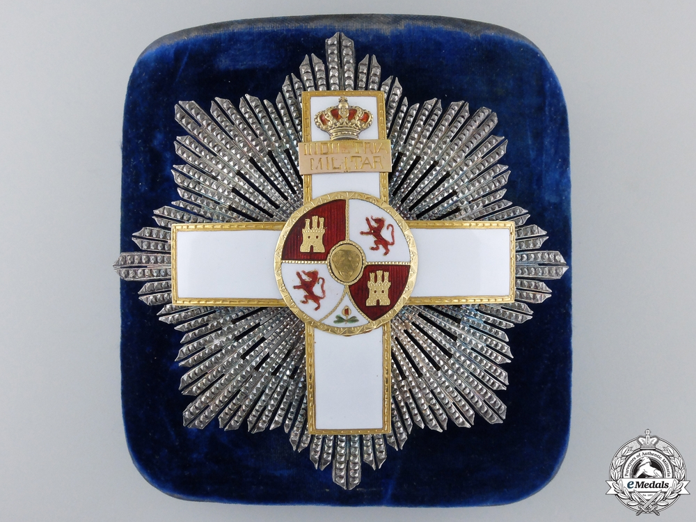 A Spanish Order of Military Merit with White Distinction