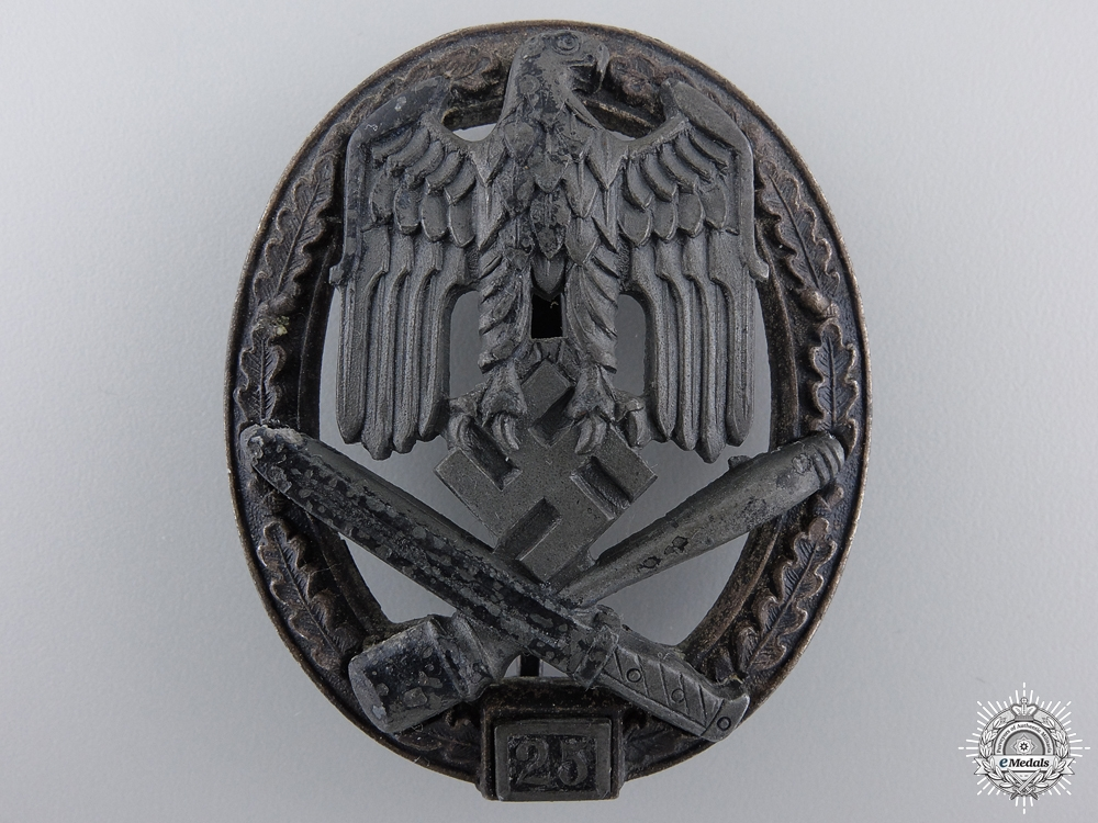 A Special Grade Assault Badge; Grade II (25) by Rudolf Karneth