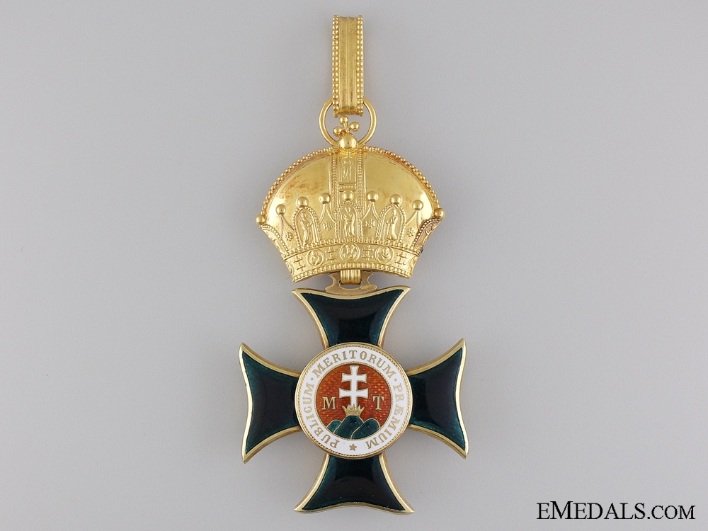 A Very Rare Order of St. Stephen in Gold; Grand Cross 1880-1900